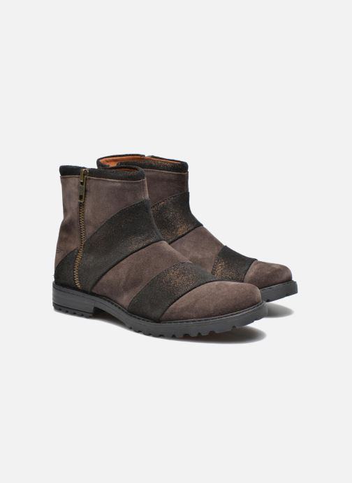 Ankle boots Shwik STAMPA BACK ZIP Brown 3/4 view