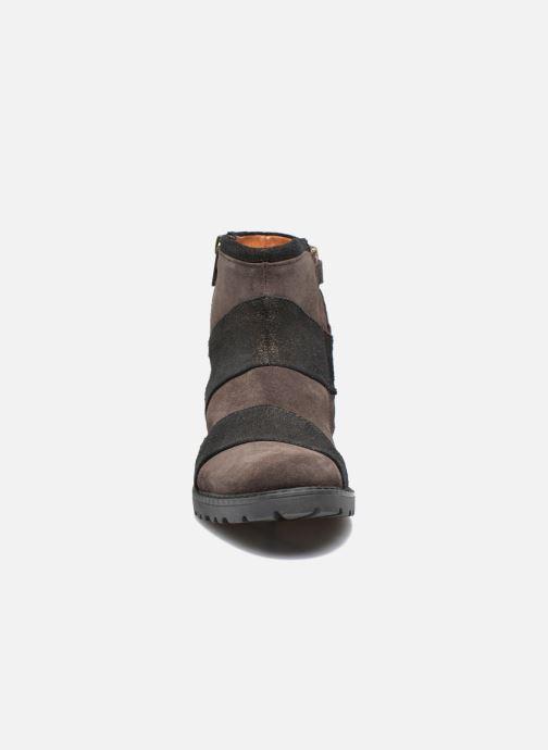 Bottines et boots Shwik STAMPA BACK ZIP Marron vue portées chaussures