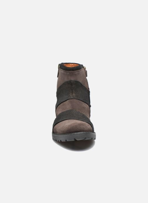 Ankle boots Shwik STAMPA BACK ZIP Brown model view