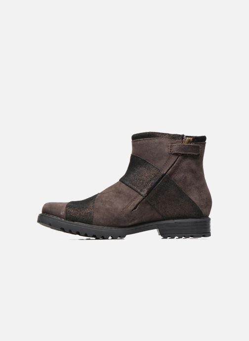 Boots en enkellaarsjes Shwik STAMPA BACK ZIP Bruin voorkant