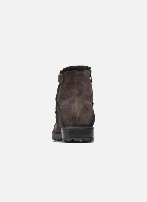 Ankle boots Shwik STAMPA BACK ZIP Brown view from the right