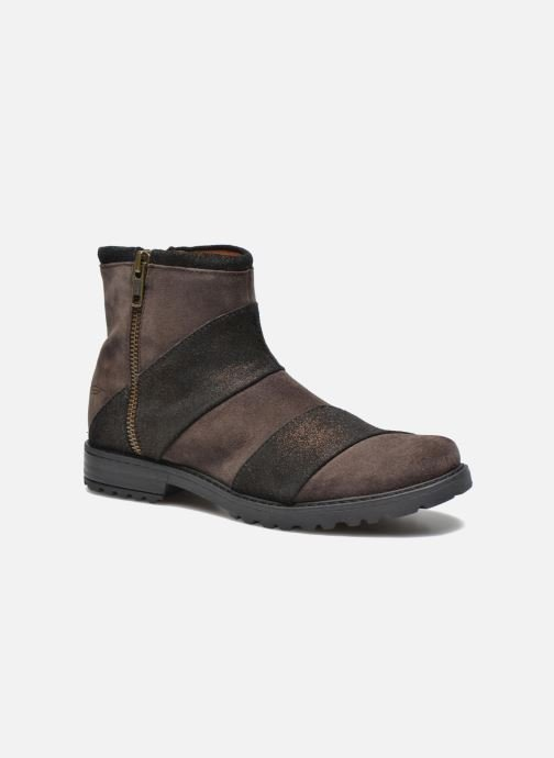 Ankle boots Shwik STAMPA BACK ZIP Brown detailed view/ Pair view