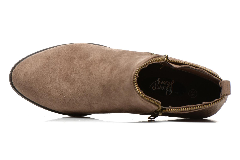 Botines  I Love Shoes Thazip Size + Marrón vista lateral izquierda