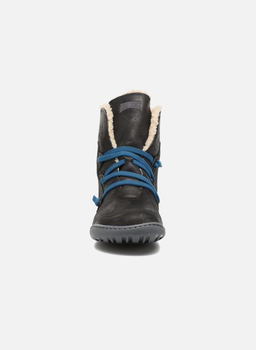 Boots en enkellaarsjes Camper Peu Cami 46477 lacets gris Zwart model