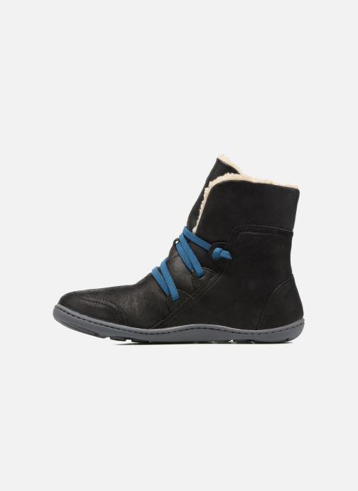 Boots en enkellaarsjes Camper Peu Cami 46477 lacets gris Zwart voorkant