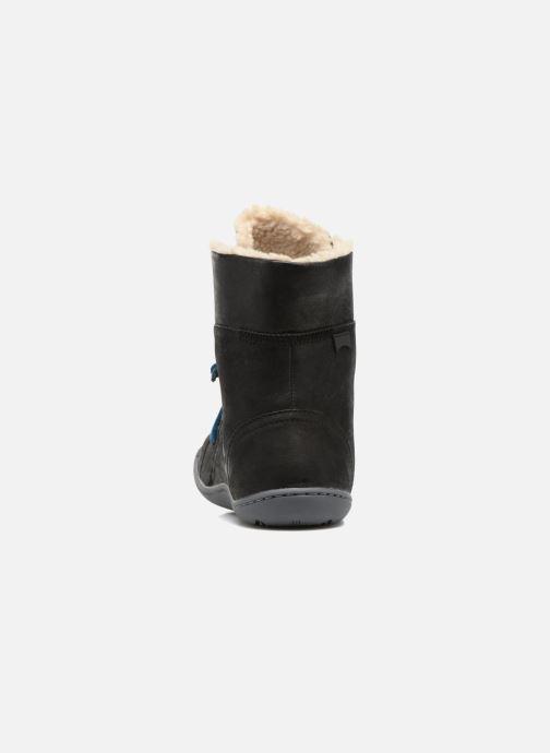 Boots en enkellaarsjes Camper Peu Cami 46477 lacets gris Zwart rechts
