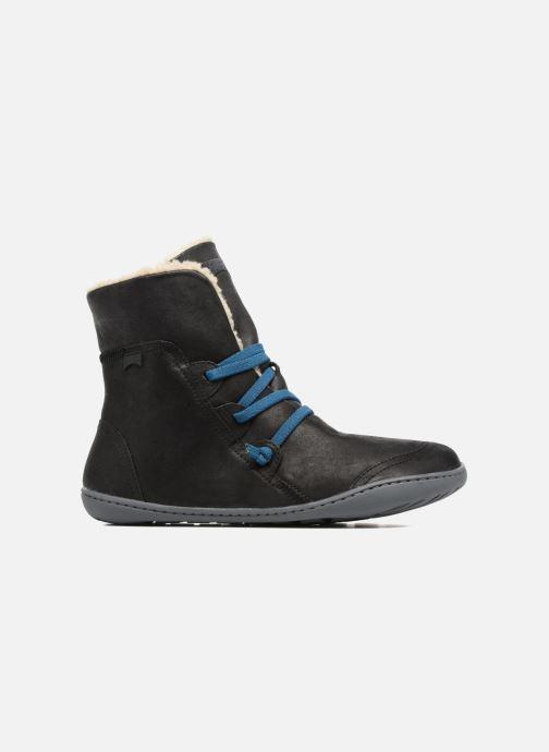 Boots en enkellaarsjes Camper Peu Cami 46477 lacets gris Zwart achterkant