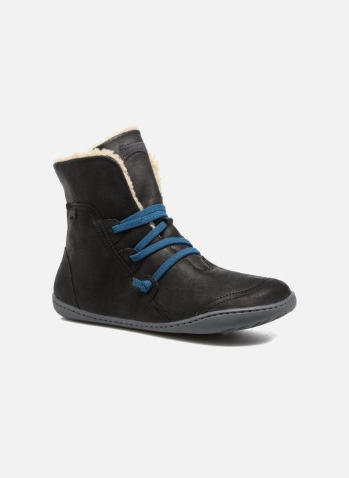 Boots en enkellaarsjes Camper Peu Cami 46477 lacets gris Zwart detail