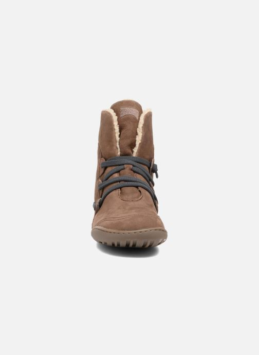Boots en enkellaarsjes Camper Peu Cami 46477 lacets gris Bruin model
