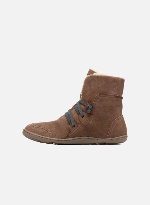 Boots en enkellaarsjes Camper Peu Cami 46477 lacets gris Bruin voorkant