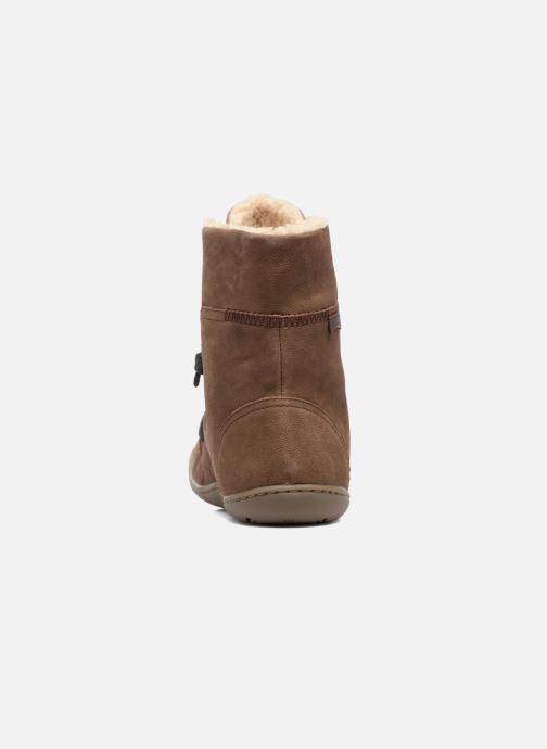 Boots en enkellaarsjes Camper Peu Cami 46477 lacets gris Bruin rechts