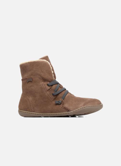 Boots en enkellaarsjes Camper Peu Cami 46477 lacets gris Bruin achterkant