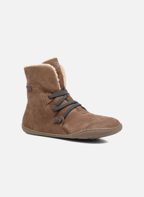 Boots en enkellaarsjes Camper Peu Cami 46477 lacets gris Bruin detail