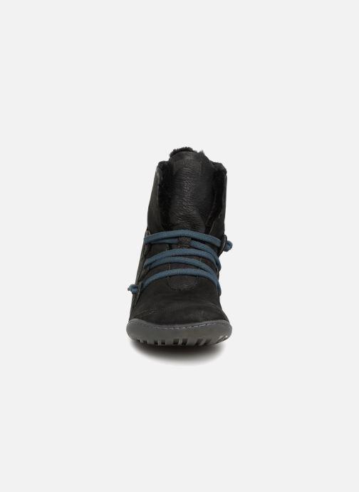 Bottines et boots Camper Peu Cami 46477 lacets gris Noir vue portées chaussures