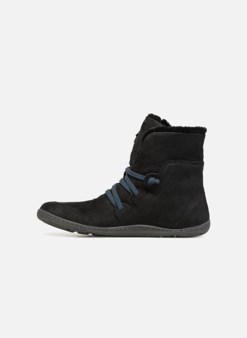 Bottines et boots Camper Peu Cami 46477 lacets gris Noir vue face