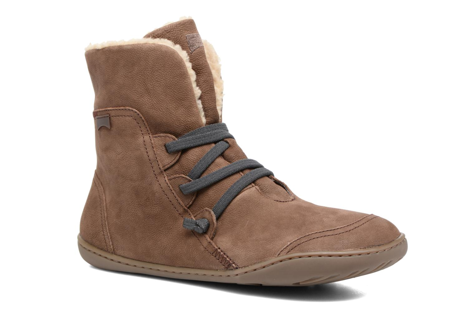 Ankle boots Camper Peu Cami 46477 Brown detailed view/ Pair view