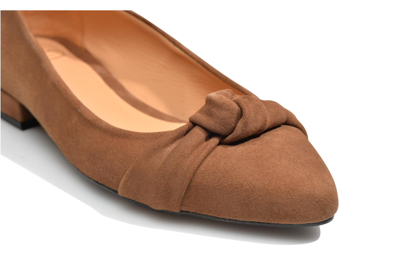 Ballerines Made by SARENZA Honey Tea #1 Marron vue haut