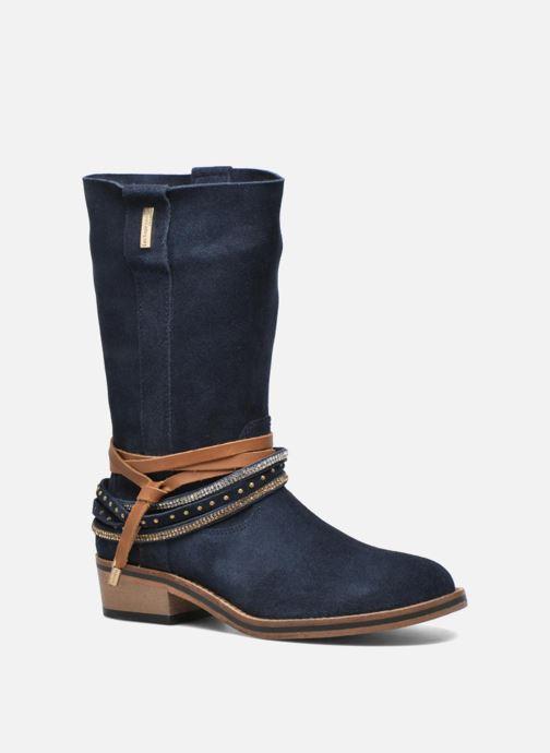 Bottines et boots Les Tropéziennes par M Belarbi Apache Bleu vue détail/paire