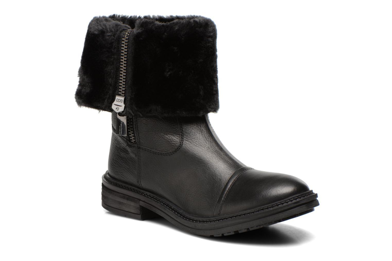 Bottines et boots Les Tropéziennes par M Belarbi Loutre Noir vue détail/paire