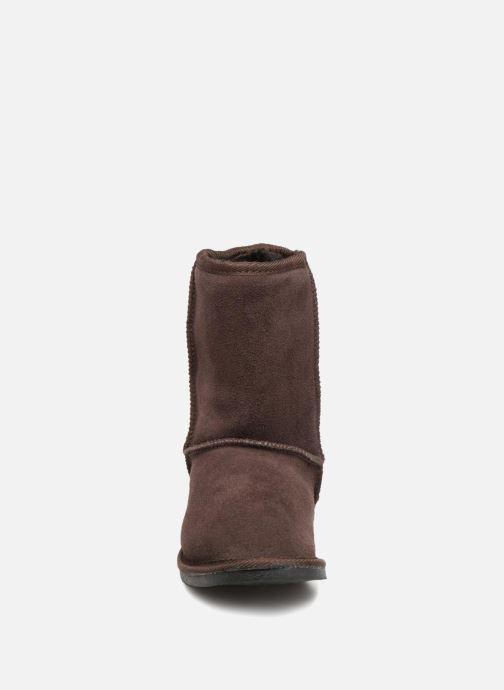Bottines et boots Les Tropéziennes par M Belarbi Snow Marron vue portées chaussures