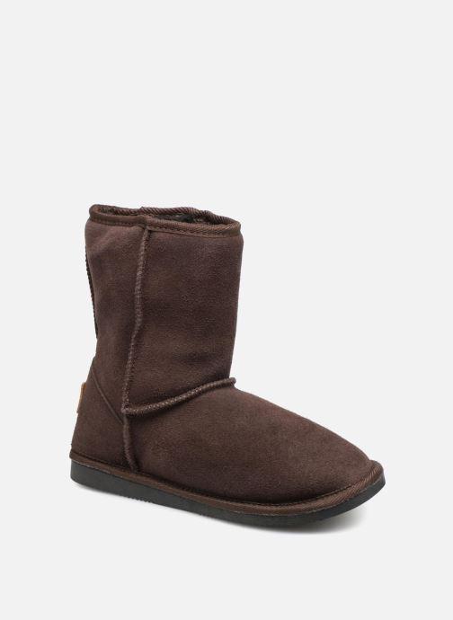 Bottines et boots Les Tropéziennes par M Belarbi Snow Marron vue détail/paire