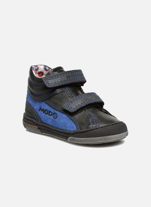 Velcro shoes Mod8 ZEPHIR Black detailed view/ Pair view