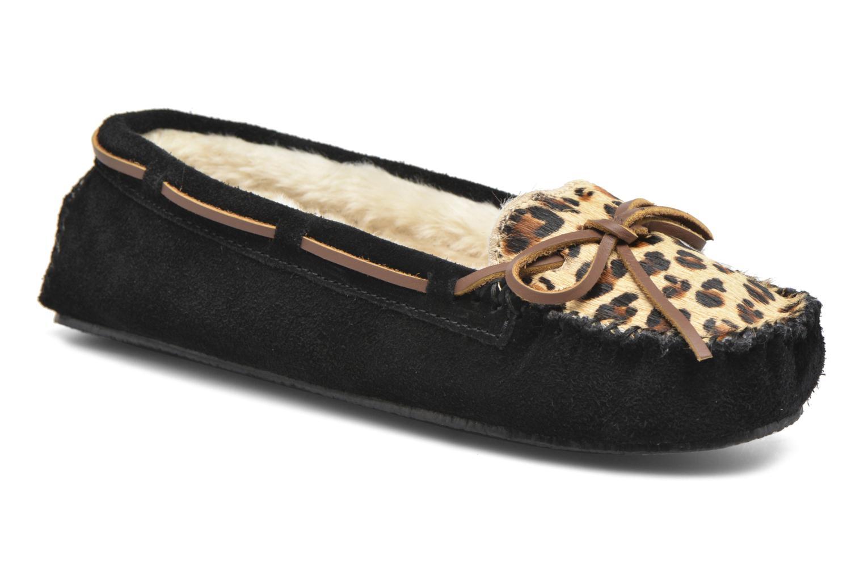 Pantofole Minnetonka Leopard Cally Nero vedi dettaglio/paio