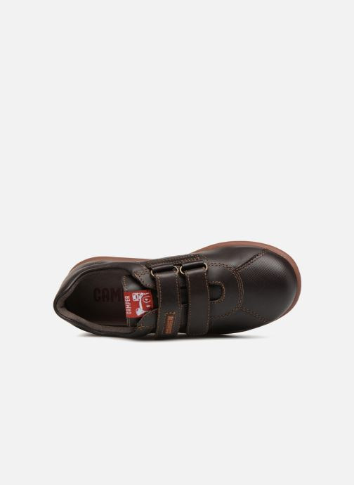 Velcro shoes Camper Pelotas Ariel Kids Brown view from the left