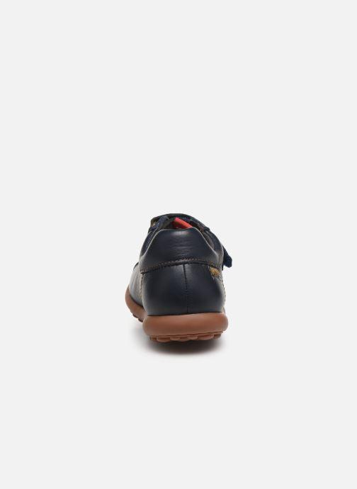 Chaussures à scratch Camper Pelotas Ariel Kids Bleu vue droite