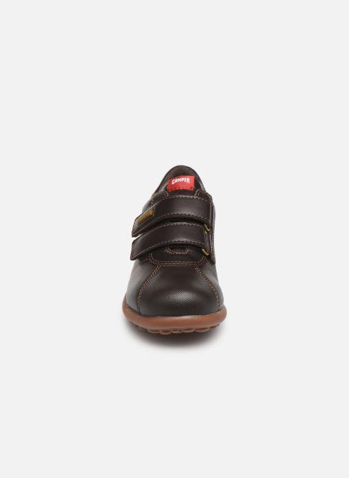 Chaussures à scratch Camper Pelotas Ariel Kids Marron vue portées chaussures