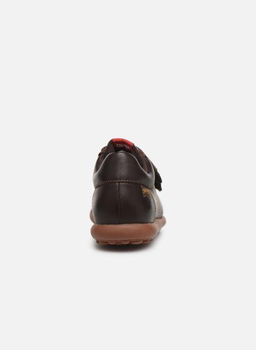 Chaussures à scratch Camper Pelotas Ariel Kids Marron vue droite