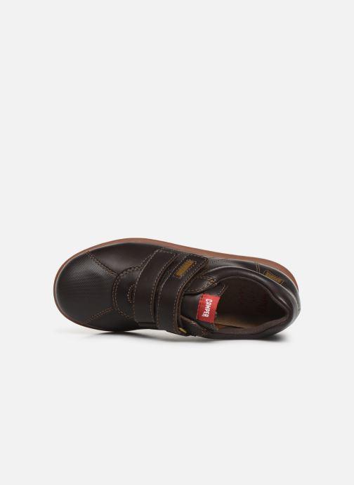 Chaussures à scratch Camper Pelotas Ariel Kids Marron vue gauche