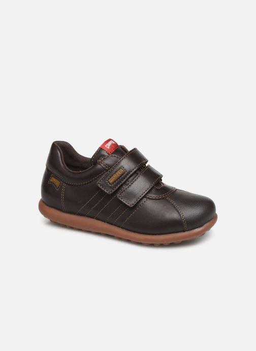 Schoenen met klitteband Camper Pelotas Ariel Kids Bruin detail