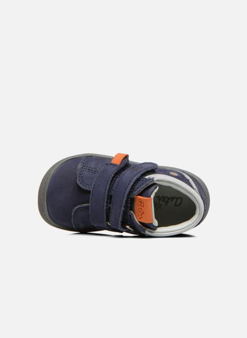 Velcro shoes Aster PIELL Blue view from the left