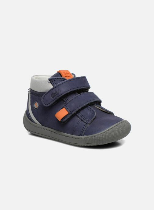 Velcro shoes Aster PIELL Blue detailed view/ Pair view