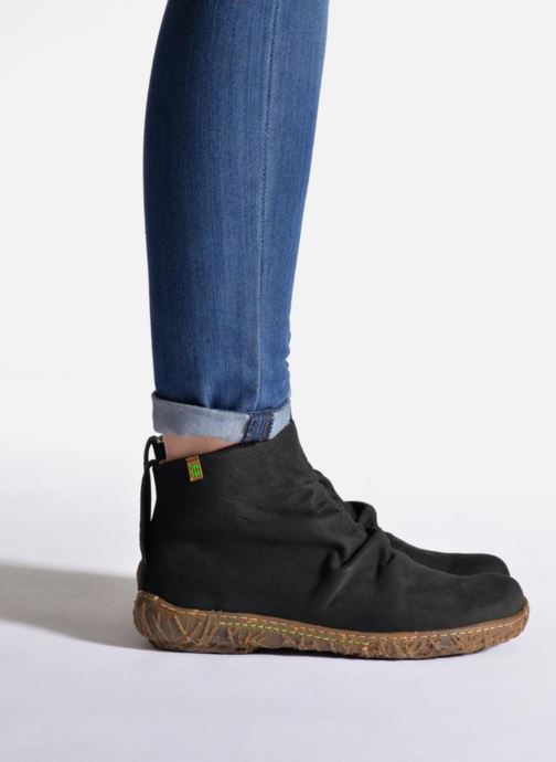 Ankle boots El Naturalista Nido Ella N755 Black view from underneath / model view