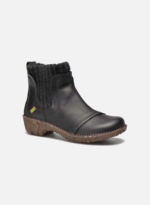 9bb5474f Ankelstøvler El Naturalista Yggdrasil NE23 Sort detaljeret billede af skoene