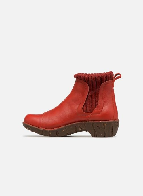 Ankle boots El Naturalista Yggdrasil NE23 Red front view