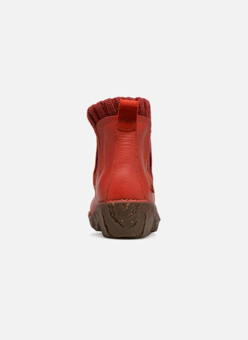 Ankle boots El Naturalista Yggdrasil NE23 Red view from the right