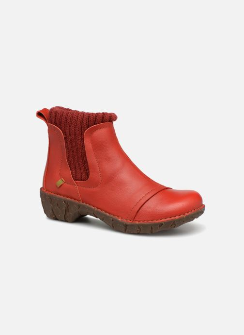 Ankle boots El Naturalista Yggdrasil NE23 Red detailed view/ Pair view