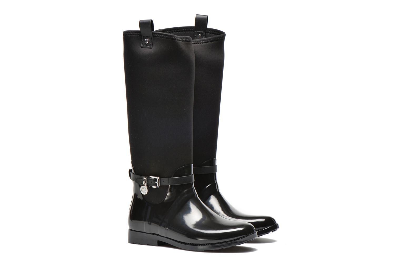 Bottes Michael Michael Kors Charme stretch rain boot Noir vue 3/4