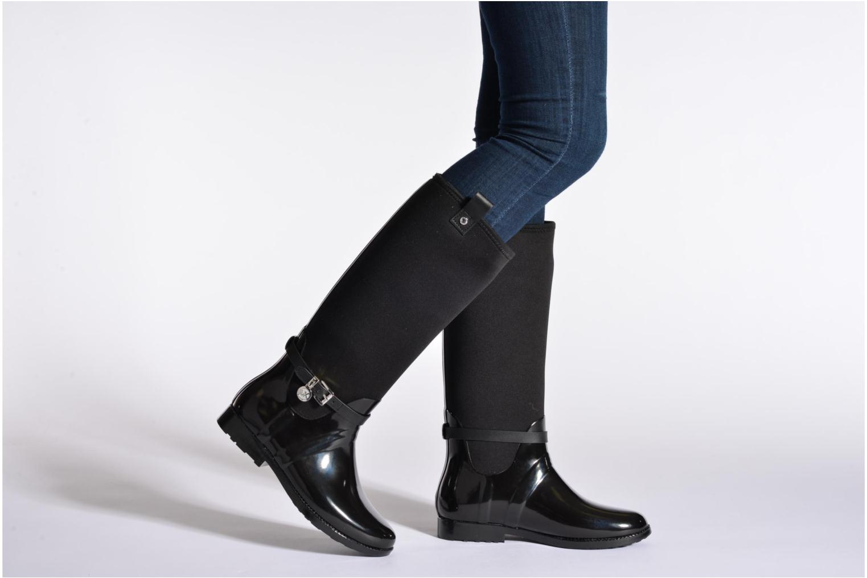 Bottes Michael Michael Kors Charme stretch rain boot Noir vue bas / vue portée sac