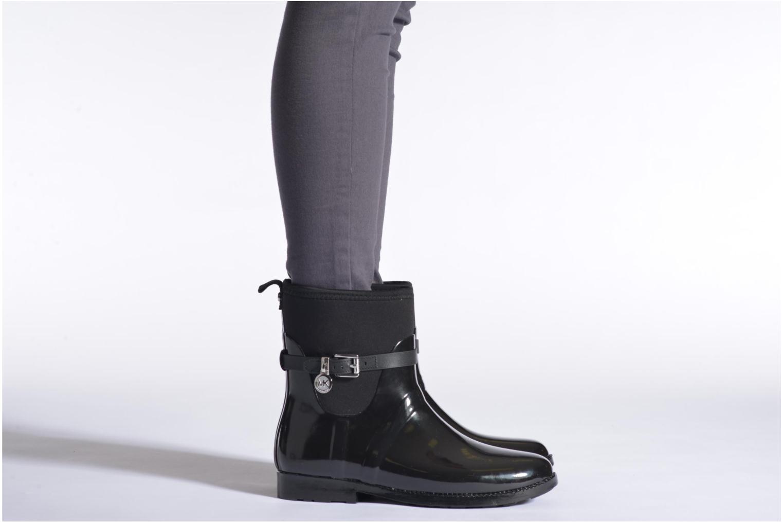 Bottines et boots Michael Michael Kors Charme stretch rain bootie Noir vue bas / vue portée sac