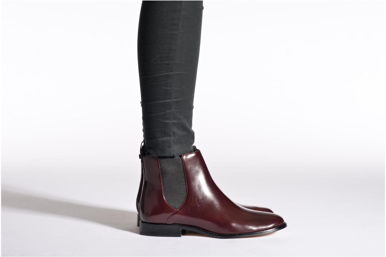 Bottines et boots Michael Michael Kors Thea bootie Bordeaux vue bas / vue portée sac