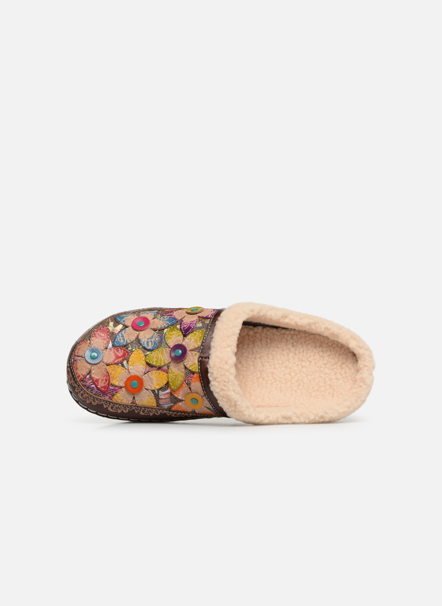Slippers Laura Vita Trema Multicolor view from the left
