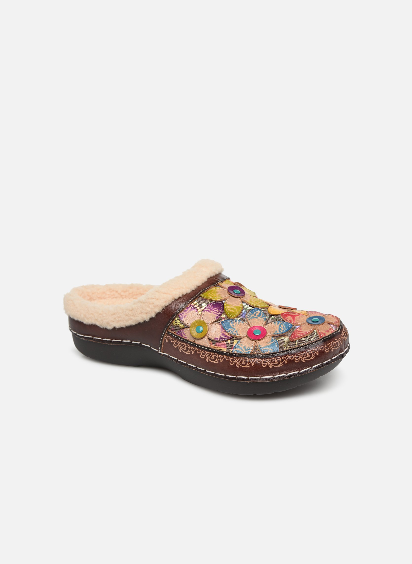 Slippers Laura Vita Trema Multicolor detailed view/ Pair view