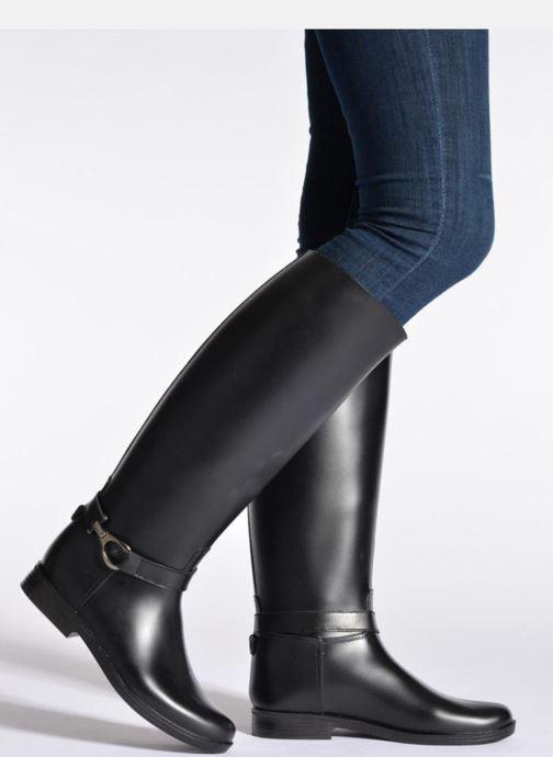 Stiefel Méduse Flamille schwarz ansicht von unten / tasche getragen