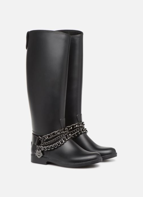 Botas Love Moschino Rain chain boot Negro vista 3/4
