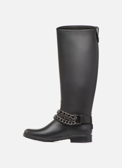 Boots & wellies Love Moschino Rain chain boot Black front view