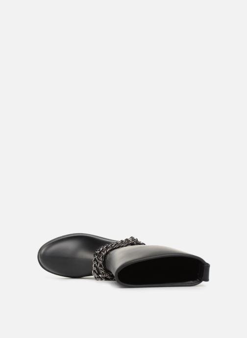 Botas Love Moschino Rain chain boot Negro vista lateral izquierda